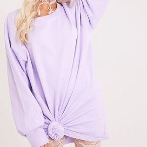 Oversized Lilac Crew Neck Sweater
